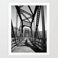 bridge Art Prints featuring Bridge by Danielle Podeszek