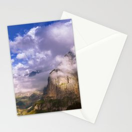 Good Evening in the Alps Stationery Cards