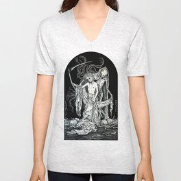 Death and the Maiden III Unisex V-Neck