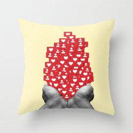Likes and Follow Throw Pillow