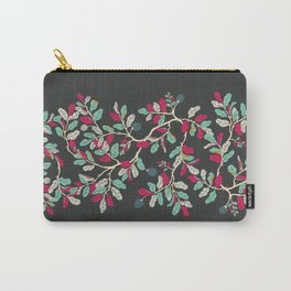 Minty Pinky Branches Carry-All Pouch