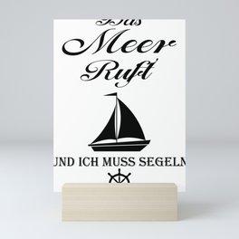 Sailing sailor Mini Art Print