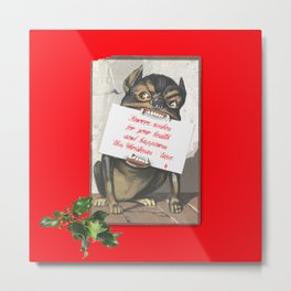 Best Christmas Wishes from the Beast Metal Print