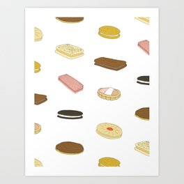 biscui - biscuit pattern Art Print