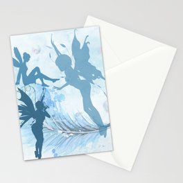 Blue Fairies Playing Stationery Cards