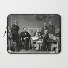 President Lincoln and His Cabinet Laptop Sleeve