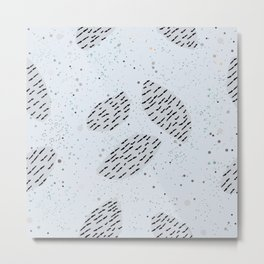 Geometrically Shaped Stones in pastel colors Metal Print