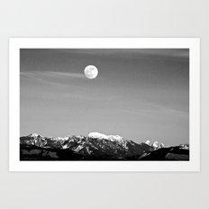 Howlin' At The Moon Art Print