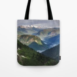 The Mountains of Glacier National Park Tote Bag