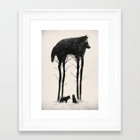 silhouette Framed Art Prints featuring Standing Tall by Dan Burgess