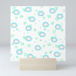 leaves and sparkle ~smile~ pattern Mini Art Print