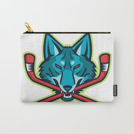 Coyote Ice Hockey Sports Mascot Carry-All Pouch