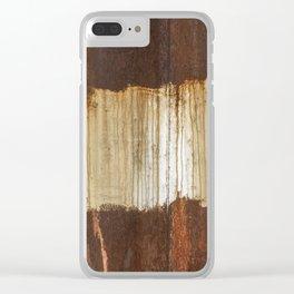 Rust 04 Clear iPhone Case