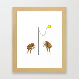 Teeny Tiny Tetherballers Framed Art Print
