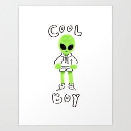 COOL BOY Art Print
