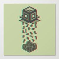 tetris Canvas Prints featuring Tetris by Delaney Digital