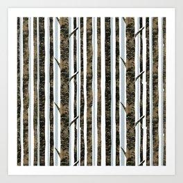Woodland Stripe Art Print