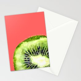 Kiwi on Coral Stationery Cards