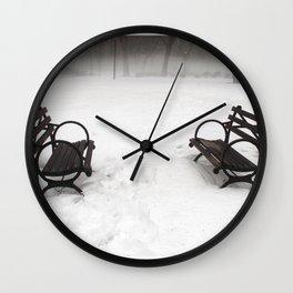 N.Y. Bench Wall Clock