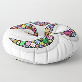 Namaste Floral Yoga Symbol Floor Pillow