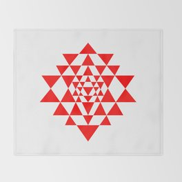Sri yantra detail, sacred geometry Throw Blanket