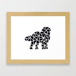 Bernese Mountain Dogs Framed Art Print