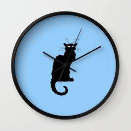 Alexandre Steinlen - Le chat noir - The black cat Wall Clock