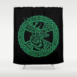 Celtic Nature Deer Shower Curtain