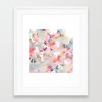 chic Framed Art Prints featuring Love of a Flower by Girly Trend