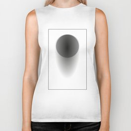 Abstract black sphere with shadow - Vector Biker Tank