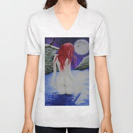 moonlight nude Unisex V-Neck