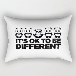 Okay To Be Different Panda Rectangular Pillow