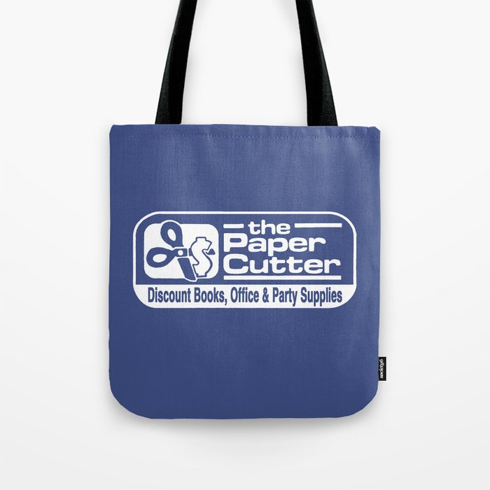 the Paper Cutter Blue Tote Bag