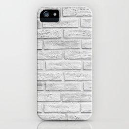 White Brick iPhone Case