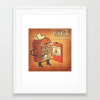 cocaine Framed Art Prints featuring Cocaine Cola by TheNazzaro