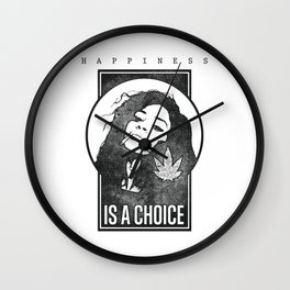 Hemp girl, for cannabis lovers Wall Clock