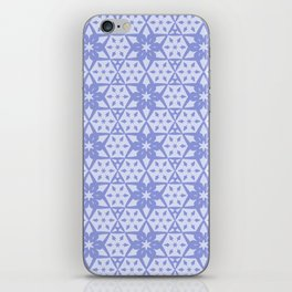 Stars and Hexagons Pattern - Mood Indigo iPhone Skin