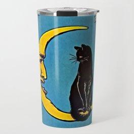 Black Cat & Moon Travel Mug
