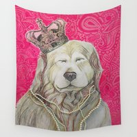 marley Wall Tapestries featuring The Marley Series: Czarley by Katie Duker