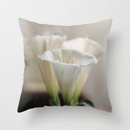 Dreamy Flowers Throw Pillow