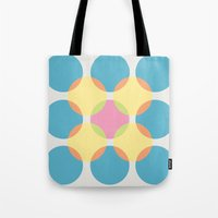circles Tote Bags featuring Circles by LightCircle