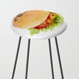 Hamburger Counter Stool