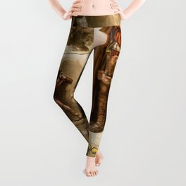 Vintage Macbeth Theatre Poster Leggings
