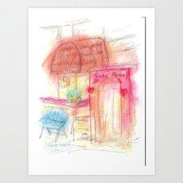 Drawing - Cafe Remix Art Print