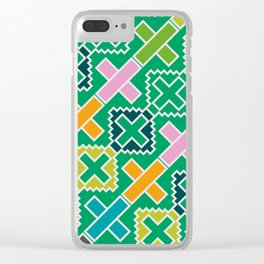 Multicolored crosses Clear iPhone Case