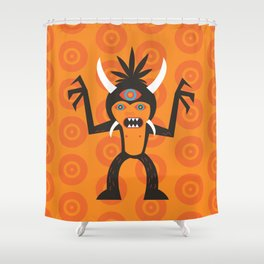 3 Eye Monster Shower Curtain