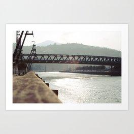 Euskalduna Bridge Art Print