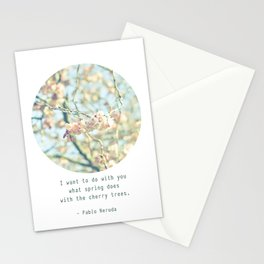 What the spring does to cherry trees Stationery Cards