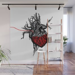Wired Heart Wall Mural