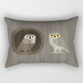 Two little owls Rectangular Pillow
